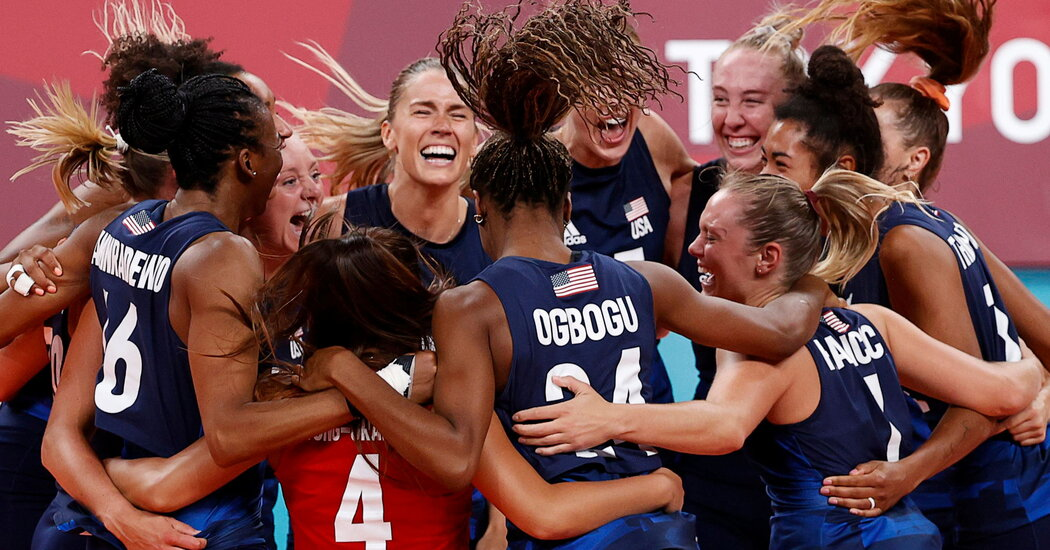 Relief and Redemption as U.S. Women's Volleyball Team Will Play for Gold