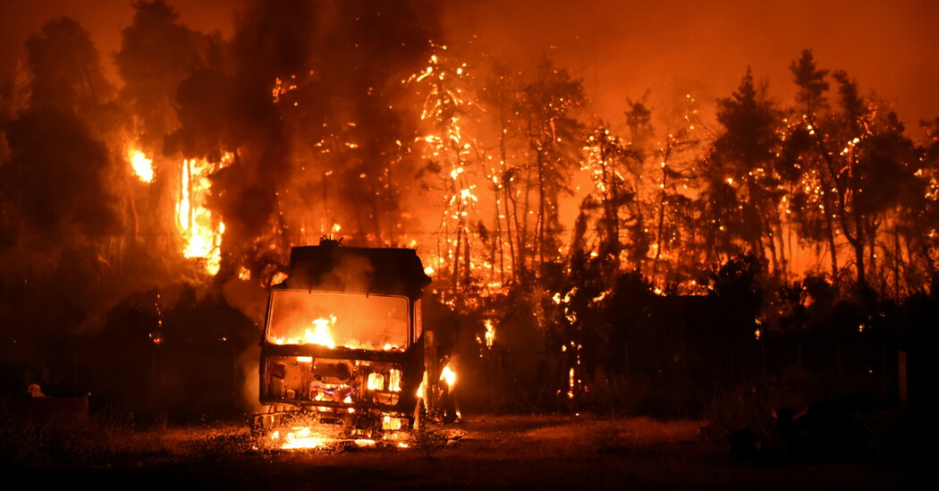 Fires Continue to Ravage Greece Amid Europe's Protracted Heat Wave
