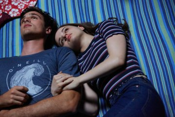 """King with Jacob Elordi in the final film in the series. King said, """"I went through a lot of important life moments in her shoes."""""""