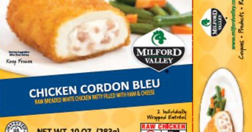 More Than 59,000 Pounds of Chicken Products Are Recalled