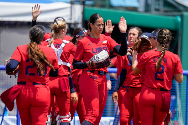 Cat Osterman, who played in the last Olympic softball tournament in 2008, was back on the mound Wednesday.