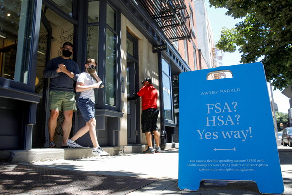 A Warby Parker store in Brooklyn. The company has filed for a direct listing on the New York Stock Exchange.