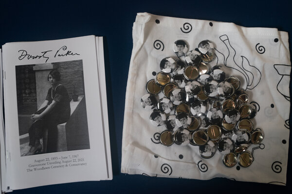 Memorabilia at the ceremony honoring the author, who died in 1967.