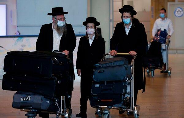 Israeli travelers last year at Ben Gurion Airport, near Tel Aviv, returning from an annual pilgrimage to the grave in Ukraine of a revered rabbi.
