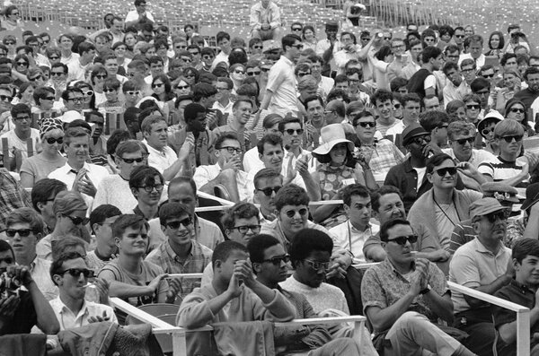 The crowd at the Newport Jazz Festival in 1967. The festival became known as a place where jazz history was made.