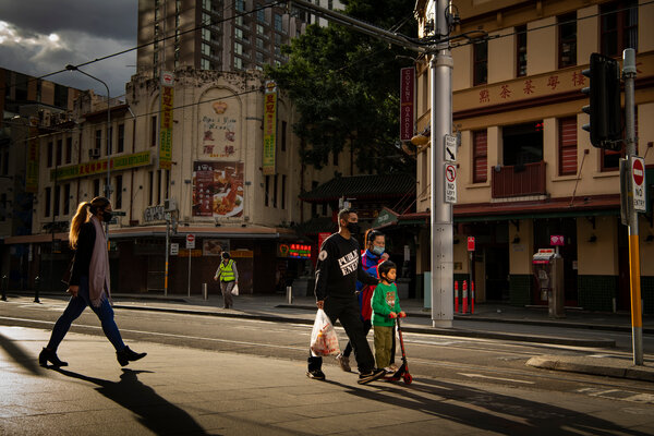 Chinatown in central Sydney. Australians of Chinese descent have fallen under a pall of suspicion.