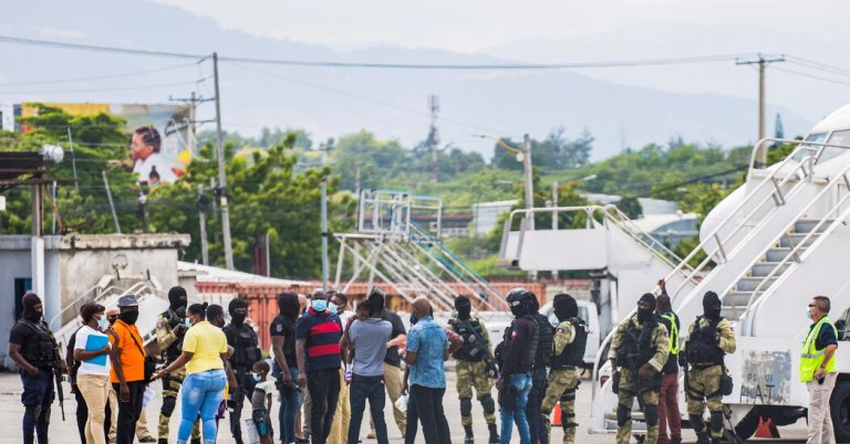Haiti protests mass deportation of migrants to country in crisis