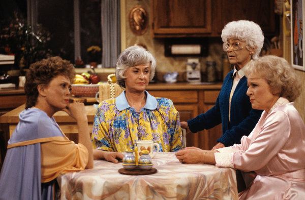 """The cast of """"The Golden Girls,"""" from left: Rue McClanahan, Bea Arthur, Estelle Getty and Betty White. It was Mr. Sandrich who suggested that Ms. McClanahan play the role originally intended for Ms. White, and vice versa."""