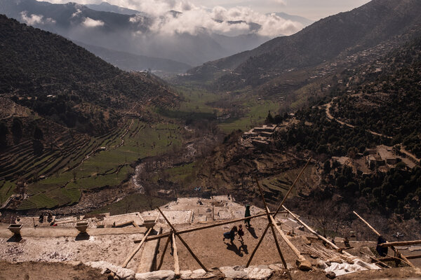 A mountainous area in Nangarhar Province in 2019. The U.S. said it had targeted an ISIS planner in Nangarhar after the attack near the Kabul airport on Thursday.