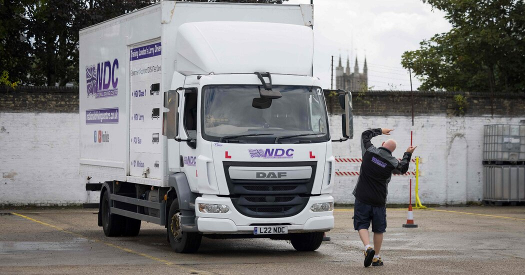 , Britain Needs Truckers Fast. We Went to a School Where They Train., The Evepost National News