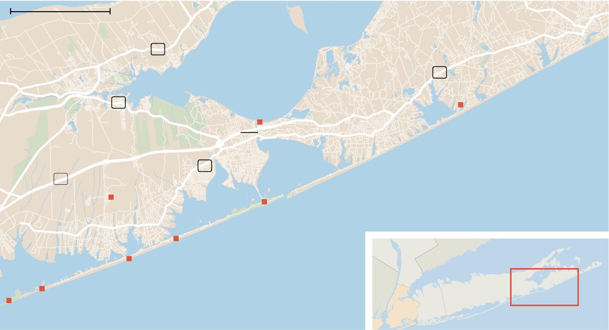Y Island Map N County Suffolk Long