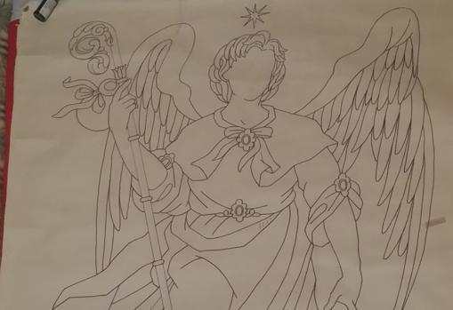 Boceto para un tapiz de San Rafael