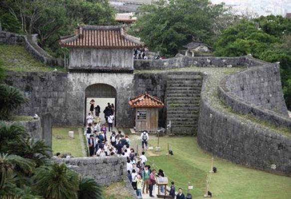 El castillo de Shuri antes de incendiarse