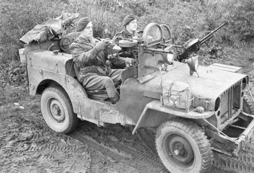 Jeep utilizado por la SAS en su campaña en Europa