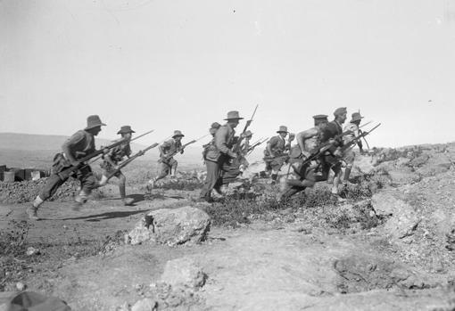 Soldados del ANZAC en Galípoli