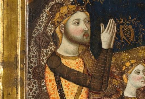 Retrato de Enrique II de Trastámara, hijo bastardo de Alfonso XI de Castilla, quien intentó arrebar el trono a su hermanastro Pedro I