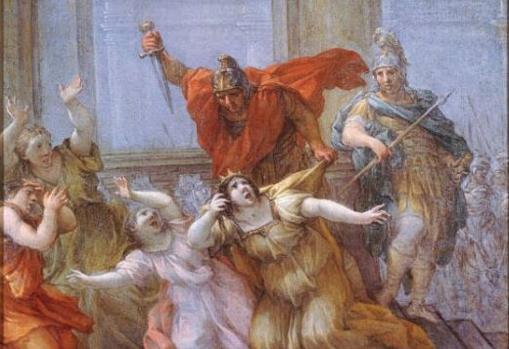 The Assassination of Emperor Caligula by Lazzaro Baldi.