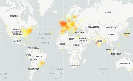 Así ha sido la caída de Google según DownDetector