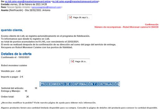Así es el correo malicioso