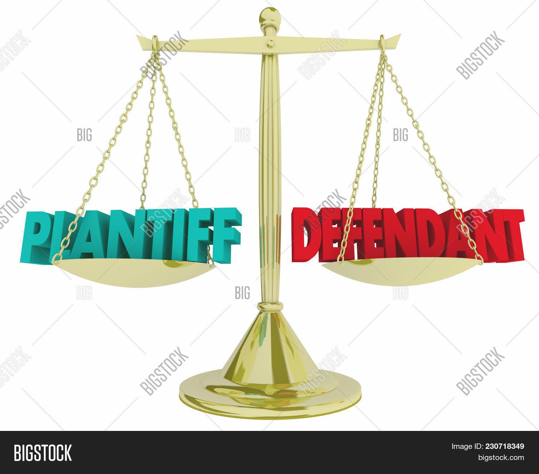 Plaintiff Vs Defendant Image & Photo (Free Trial) | Bigstock