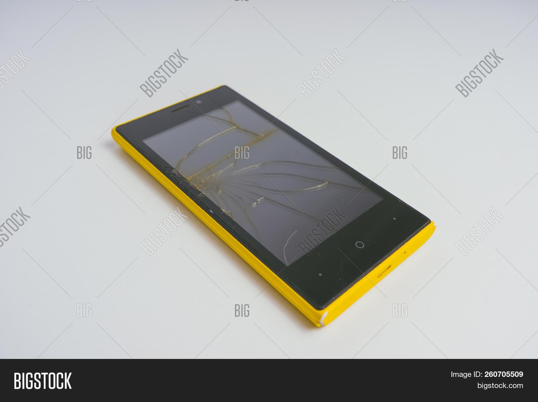 Broken Mobile Phone Image Photo Free Trial Bigstock