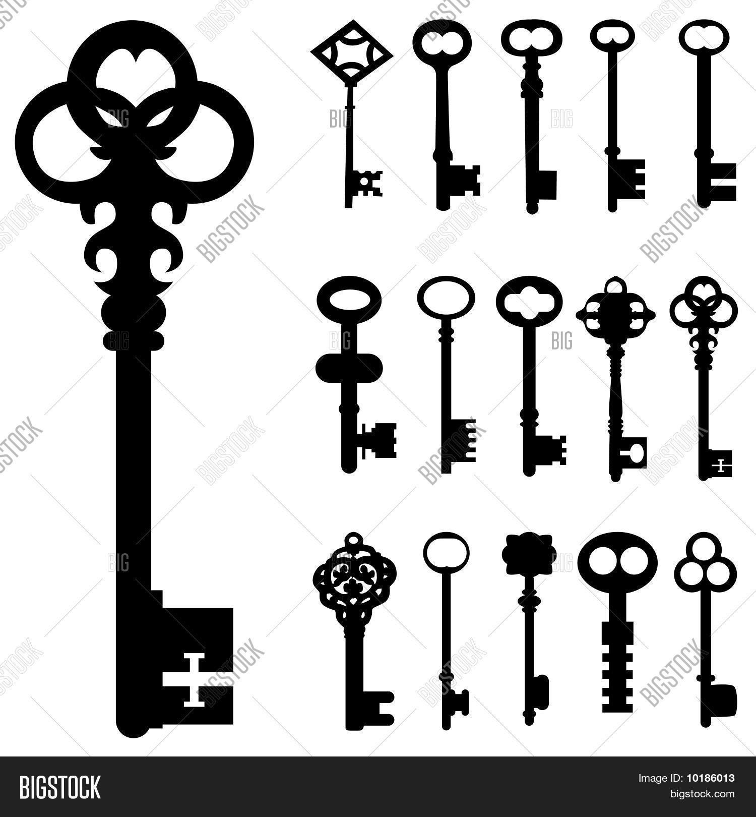Set Key Vector Vector Amp Photo Free Trial