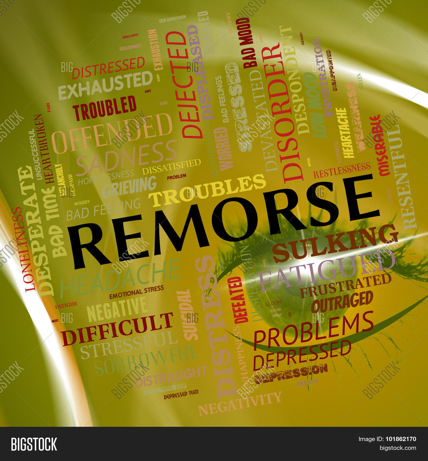 Remorse Word Shows Image & Photo (Free Trial)   Bigstock