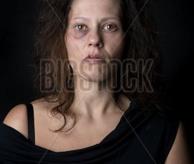 Scared And Abused Woman Victim Of Domestic Violence