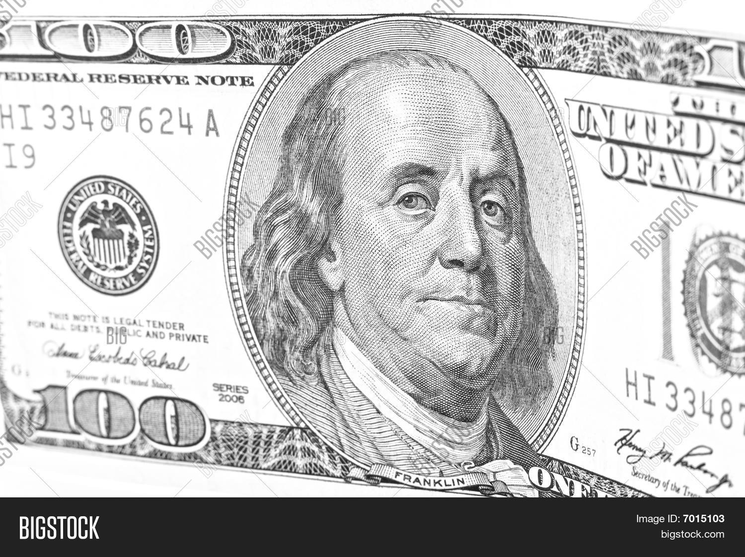 100 Dollar Bill Black Image Amp Photo Free Trial