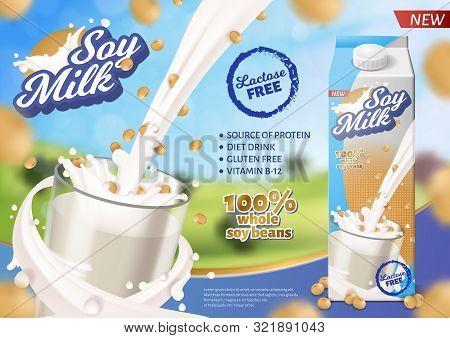 Soy Milk Horizontal Vector & Photo (Free Trial) | Bigstock