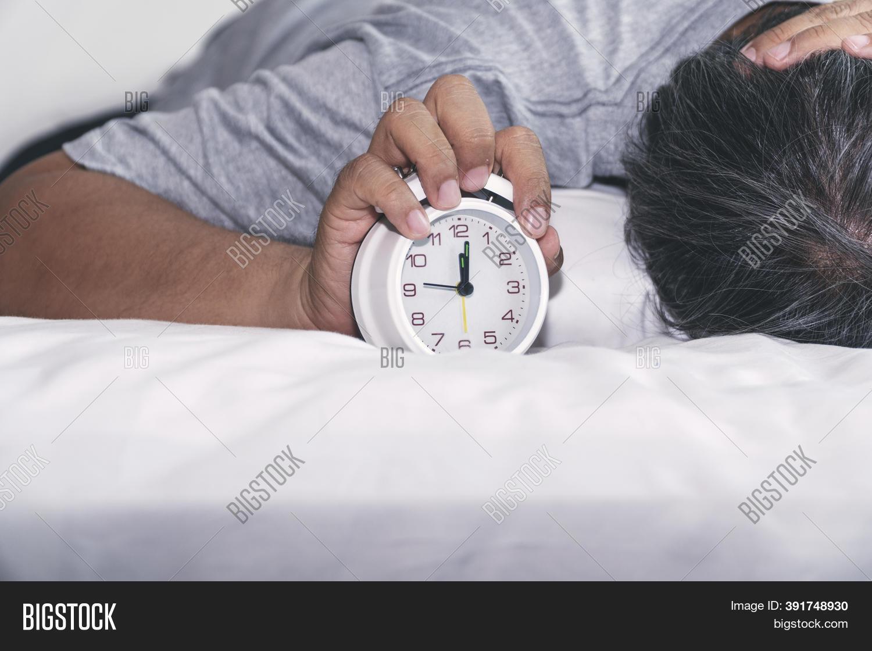 lazy man use pillow image photo free
