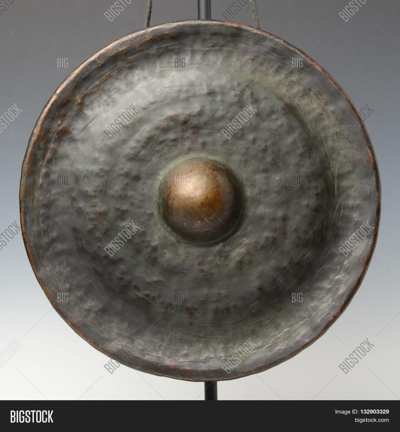 laos bronze gong kind image & photo (free trial)   bigstock