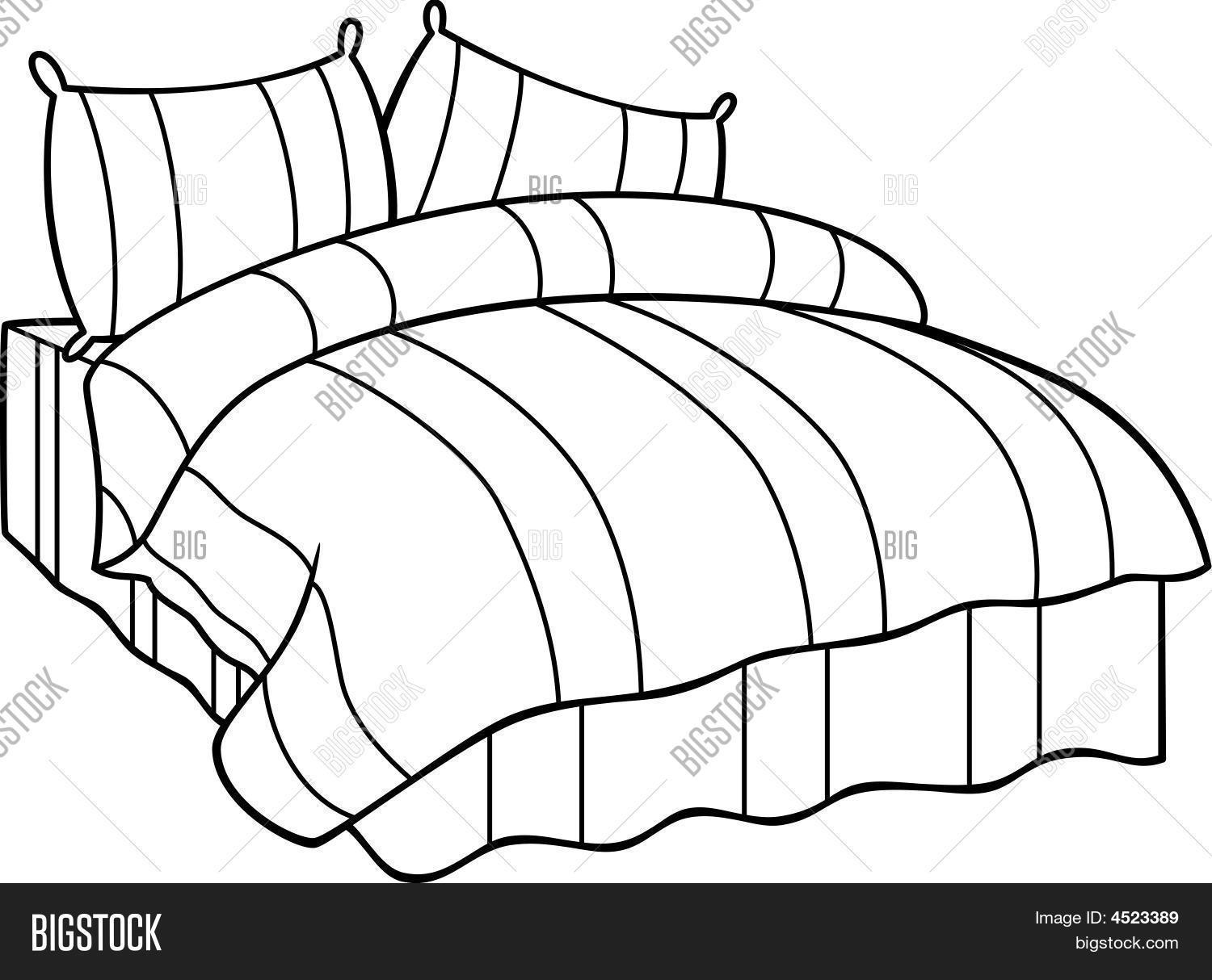 Comfortable Bed Vector Amp Photo Free Trial