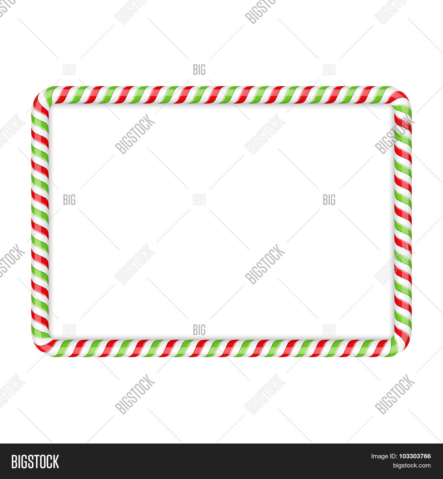 Candy Cane Frame Vector Amp Photo Free Trial