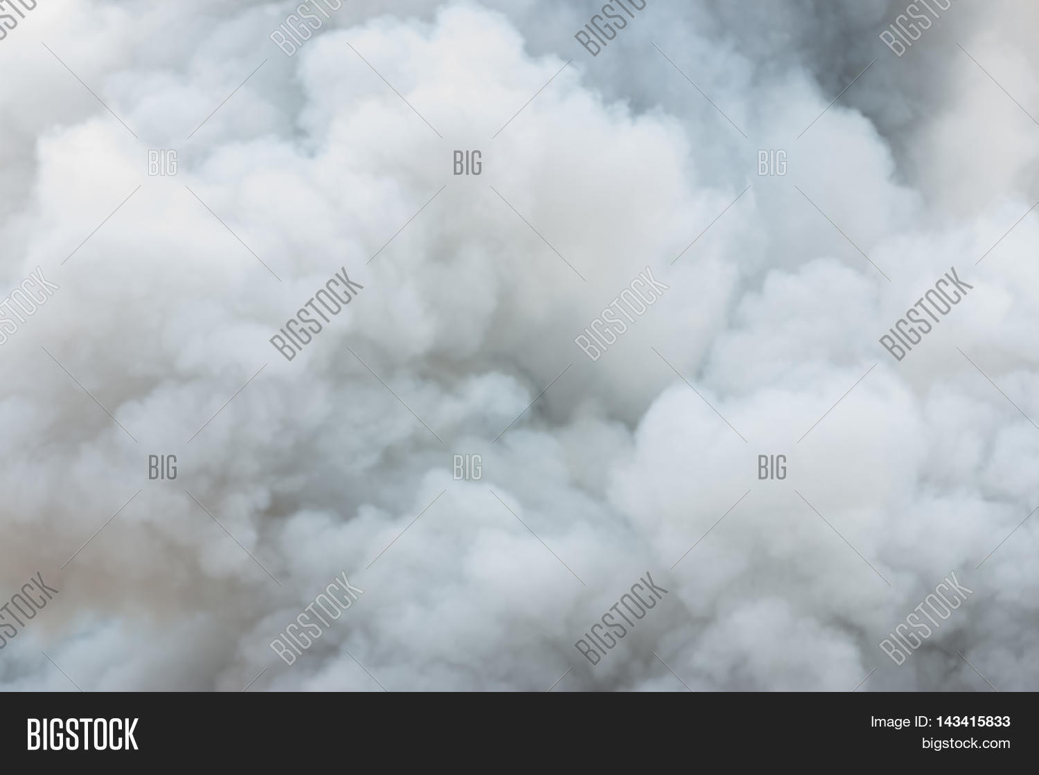Thick White Smoke On Black Image & Photo | Bigstock
