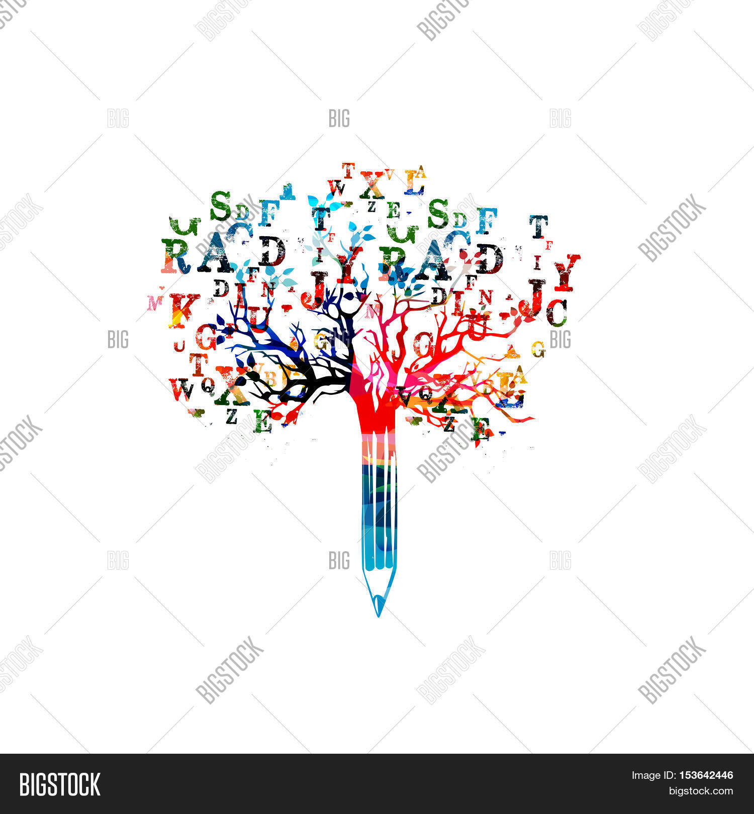 Colorful Pencil Tree Image Amp Photo Free Trial