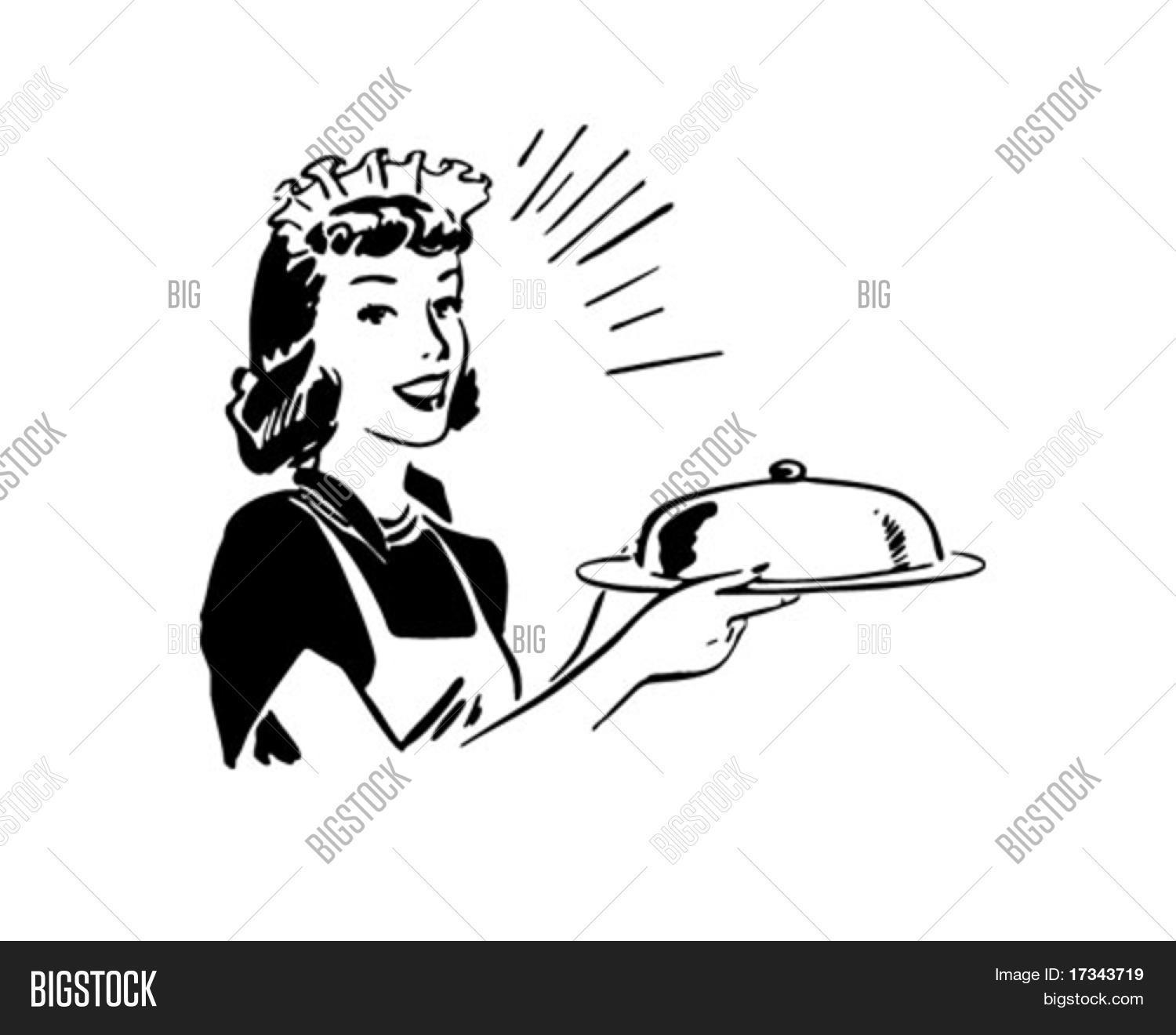 Waitress Covered Vector Amp Photo Free Trial