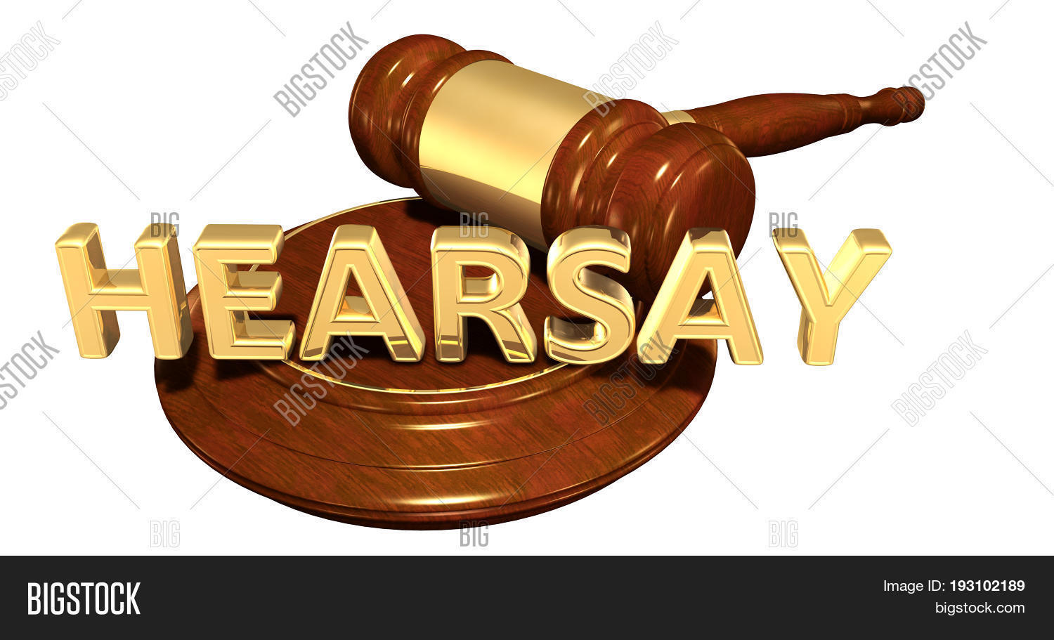 Hearsay Law Concept 3D Image & Photo (Free Trial) | Bigstock