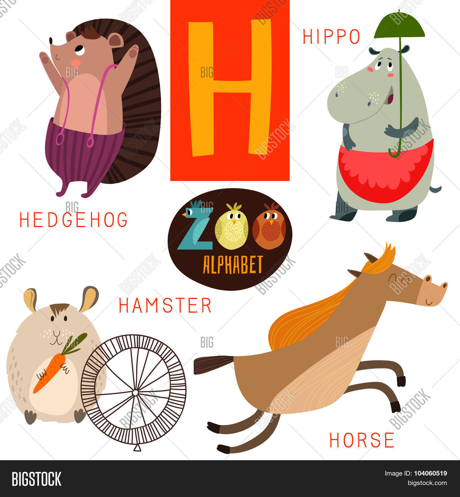 Cute Zoo Alphabet Vector Amp Photo Free Trial