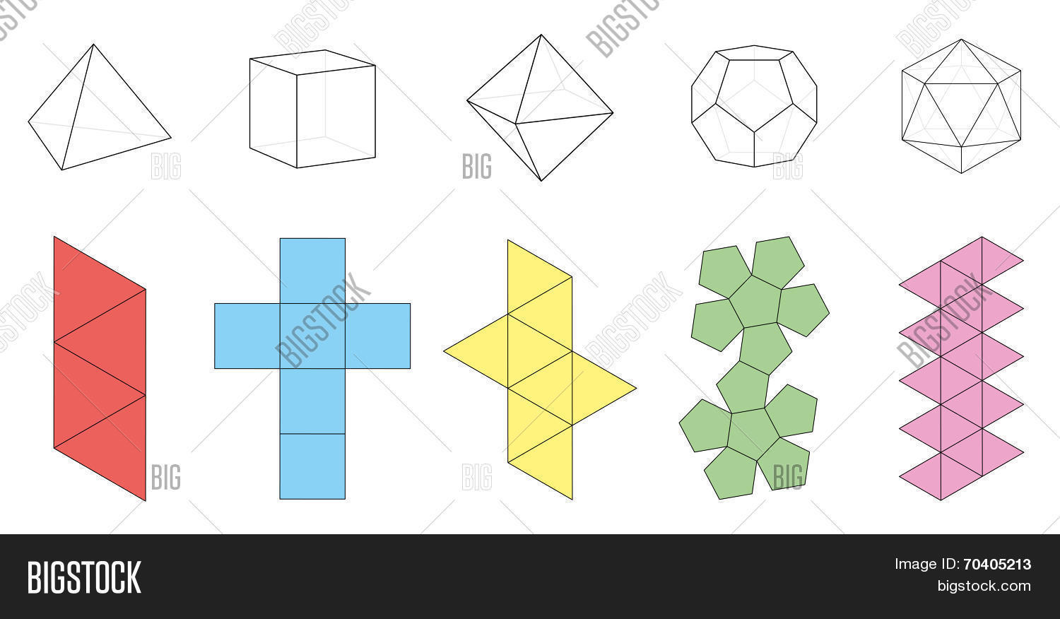 Platonic Solids Vector Amp Photo Free Trial
