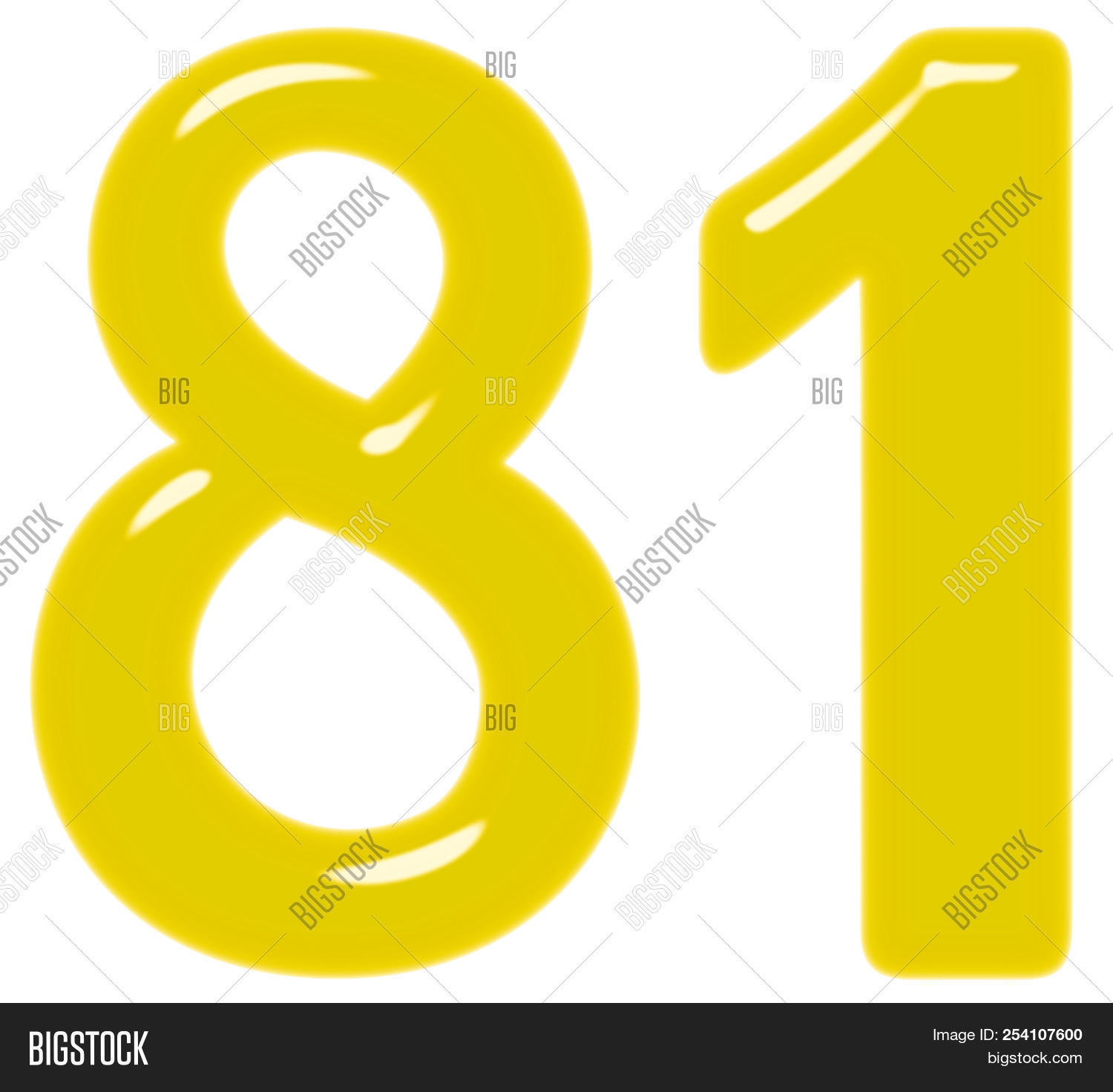 Numeral 81