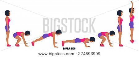 Burpee. Burpees. Vector & Photo (Free Trial) | Bigstock