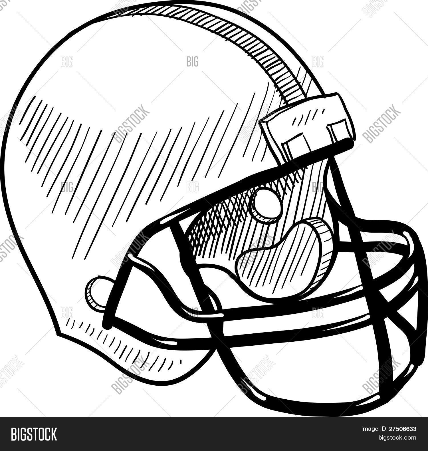 Football Helmet Vector Amp Photo Free Trial