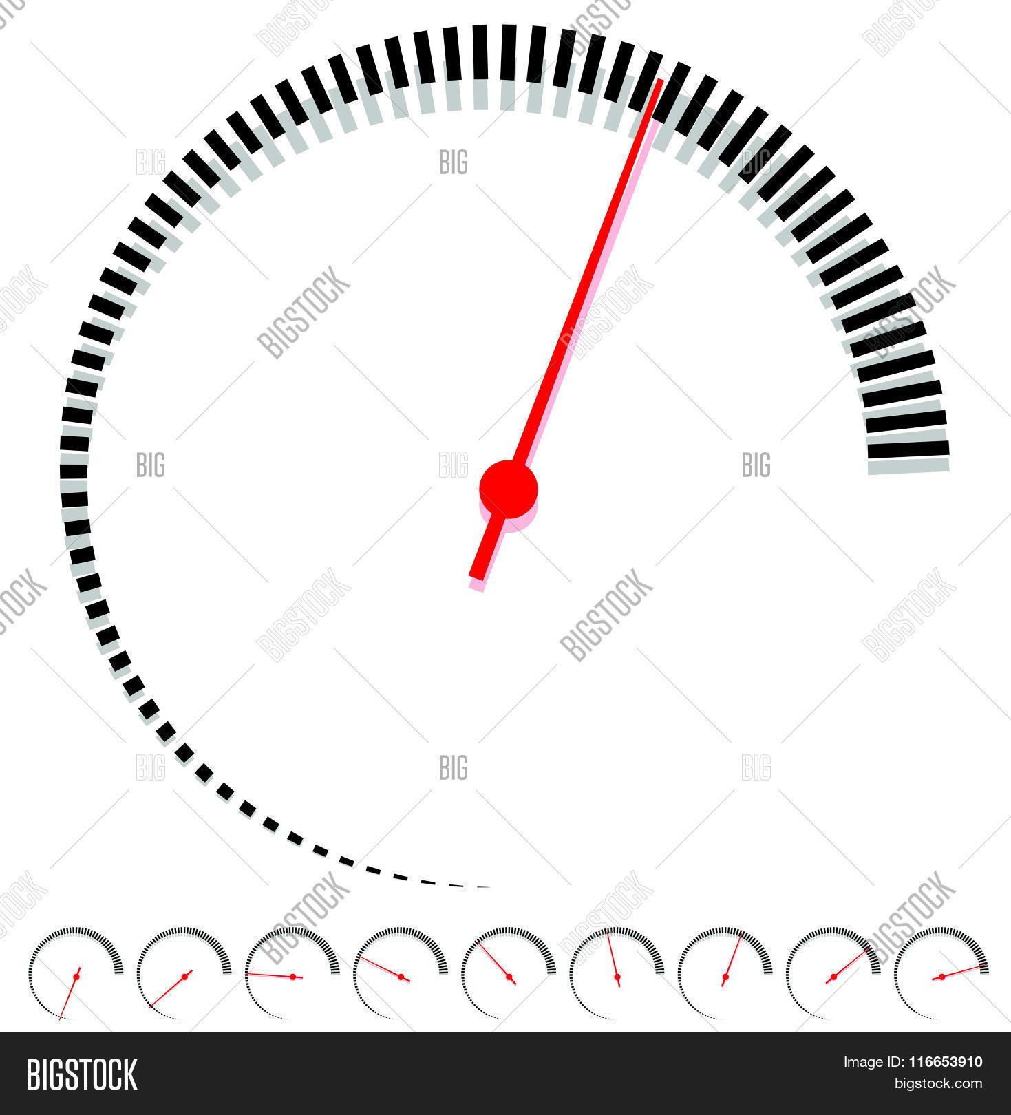 Circular Dial Gauge Vector Amp Photo Free Trial