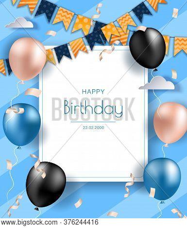 birthday banner vector photo free