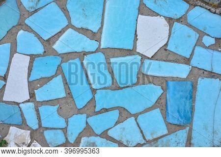 texture pieces blue image photo free