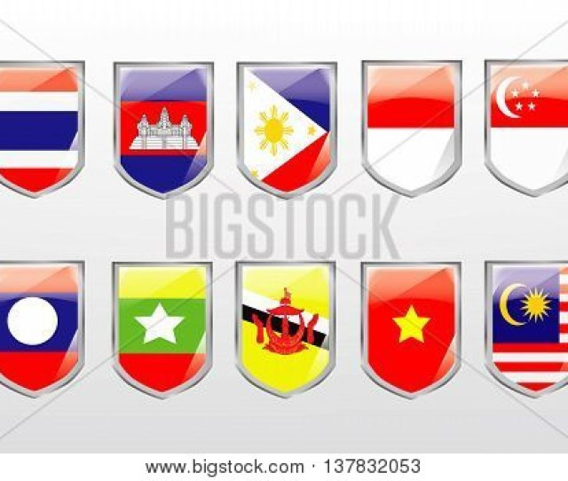 Vector Asean Flag Vector Photo Free Trial Bigstock