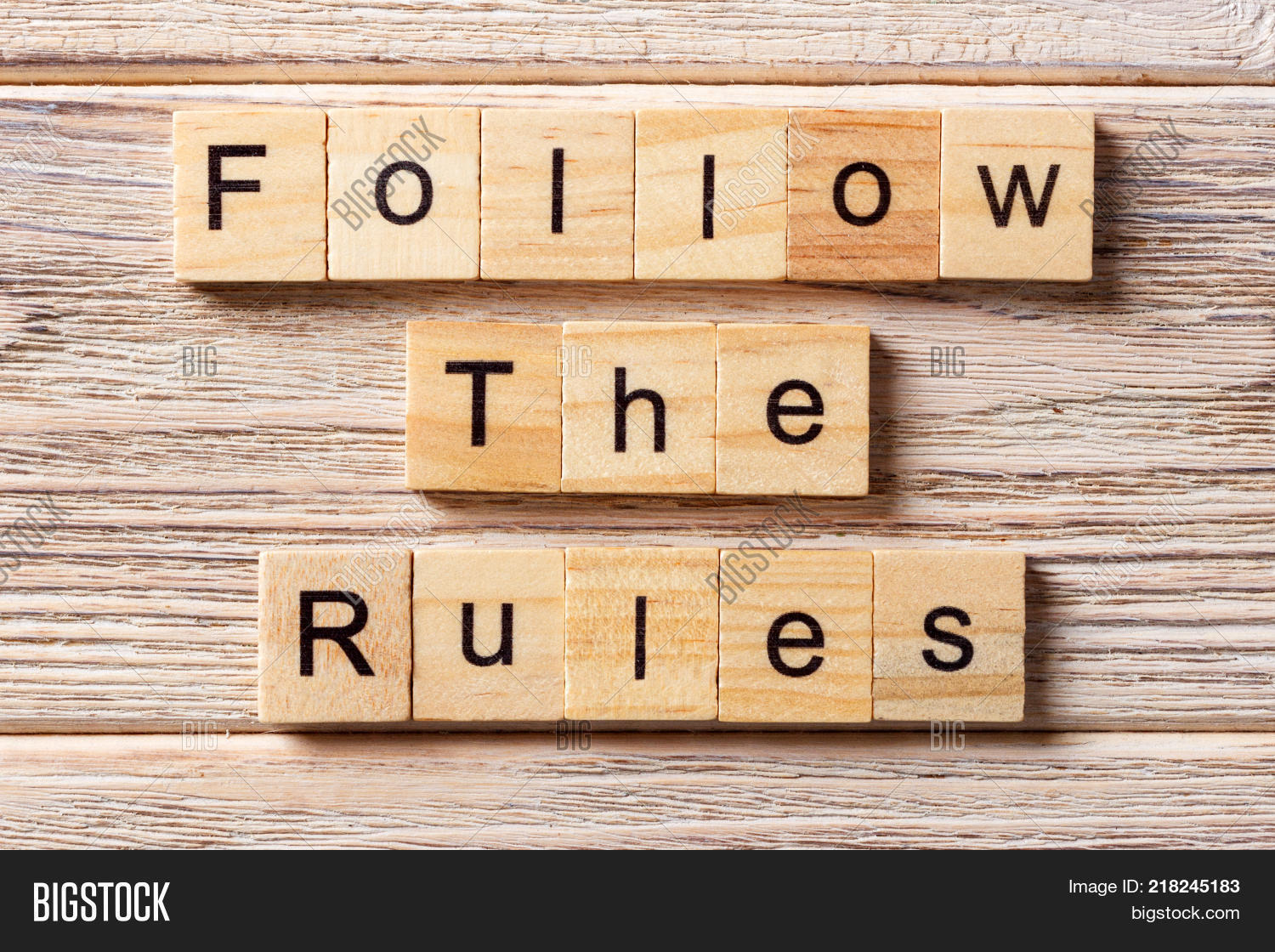 Follow Rules Word Image Amp Photo Free Trial