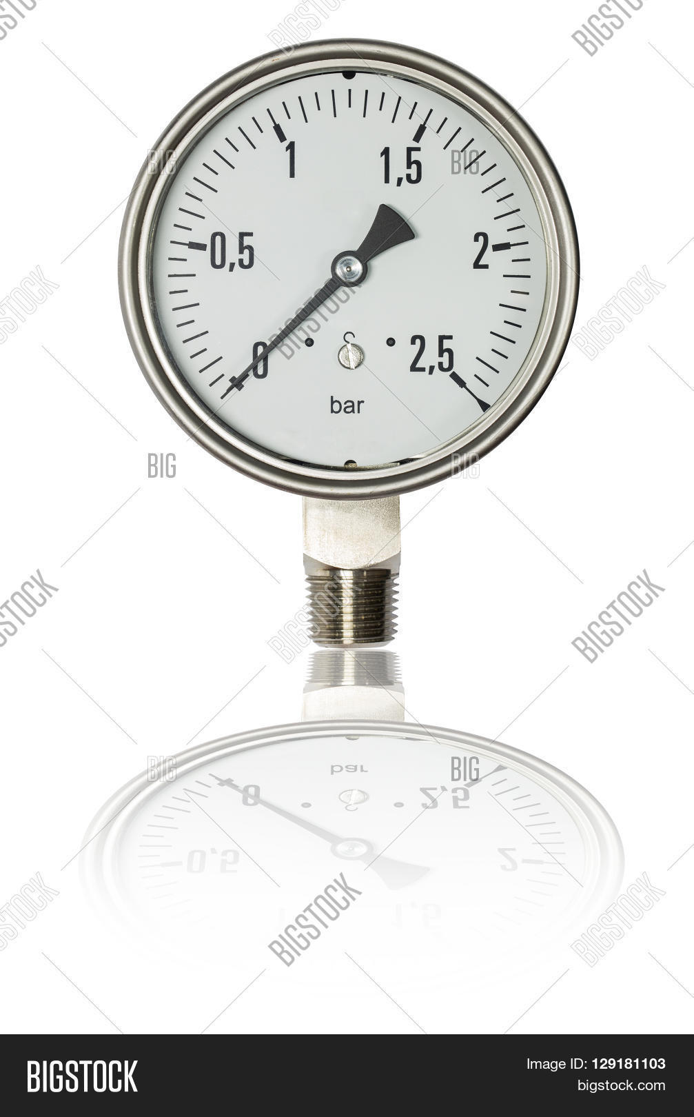 Pressure Gauge Bourdon Image & Photo (Free Trial) | Bigstock