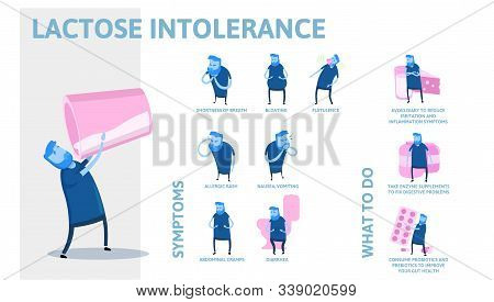 Lactose Intolerance Vector & Photo (Free Trial) | Bigstock